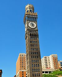 Emerson Bromo-Seltzer Tower, built in 1911. The 15 stories of the Bromo Seltzer Tower have been transformed into studio spaces for visual and literary artists