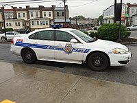 Patrol car of the Baltimore Police Department
