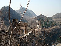 Ming Great Wall at Simatai, overlooking the gorge