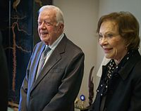 Jimmy and Rosalynn Carter at The Carter Center, 2016
