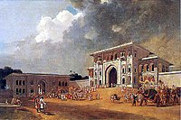 Gates of the Palace at Lucknow by W. Daniell, 1801