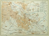 Map of parts of the Old City and the Civil Station, ca 1914