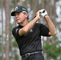 Gary Player, three-time Masters Champion in 1961, 1974, and 1978