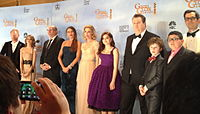 Cast of Modern Family at the 69th Golden Globe Awards in January 2012.