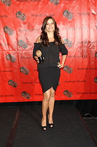 Sofía Vergara with the award for Modern Family at the 69th Annual Peabody Awards