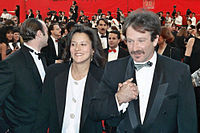 Williams with Marsha Garces at the 61st Academy Awards in 1989