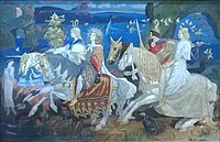 """""""The Riders of the Sidhe"""" John Duncan 1911 McManus Galleries, Dundee"""