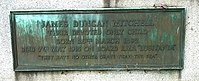 James Duncan Mitchell, died on the Lusitania in 1915, interred at Western Cemetery, Dundee.