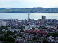View from The Law, overlooking Dundee City Centre and the Tay Road Bridge