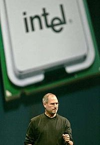 Steve Jobs talks about the transition to Intel in 2005