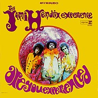 The cover of the US edition of Are You Experienced, by graphic designer Karl Ferris