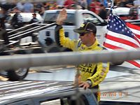 Matt Kenseth, seen here at Bristol, scored his 36th career victory at the Magic Mile.
