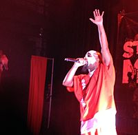 Tech N9ne performs at The Blue Note in Columbia, Missouri, in December 2013