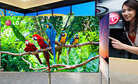 A 3D OLED TV made by Korean LG Display, the world's largest LCD and OLED maker