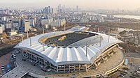Seoul World Cup Stadium in Seoul with a capacity of 66,704 seats