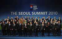 South Korea became the first non-G7 chair of the G-20 when it hosted the 2010 Seoul summit.