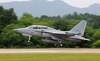 ROKAF FA-50, a supersonic combat aircraft developed by Korea Aerospace Industries