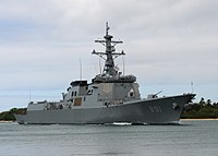 ROKN Sejong the Great, a King Sejong the Great -class guided-missile destroyer built by Hyundai Heavy Industries