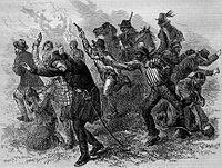 Murder of General Canby and the Rev. Dr. Thomas, an 1873 print