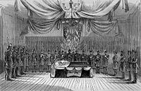 Funeral of the Late General Canby -- the Body Lying in State