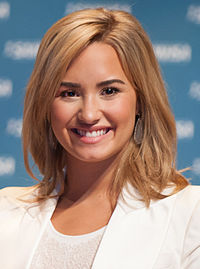 Lovato at the SAMHSA's National Children's Mental Health Awareness Day in May 2013