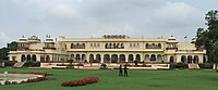 The Rambagh Palace in Jaipur reflecting Imperial Rajasthani architecture. Early 20th-century.