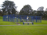 The weather station enclosure at Lister Park