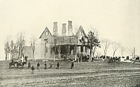 Burnside's headquarters at Phillips House during the battle
