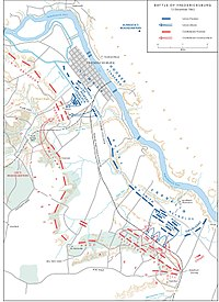 Overview of the battle, December 13, 1862 (additional map 1)