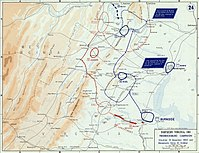Fredericksburg campaign, situation November 19, 1862 and movements since October 10