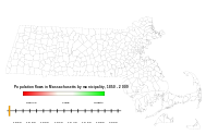 Historical population changes among Massachusetts municipalities. Click to see animation.