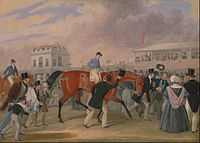 The Epsom Derby; painting by James Pollard, c. 1840