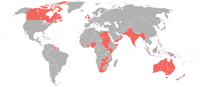 Map of the British Empire in 1898