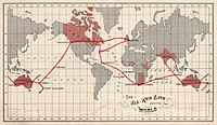 The British Empire's submarine telegraphic cable network eventually connected all of its major possessions.