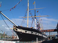 The SS Great Britain is now a museum ship in Bristol.