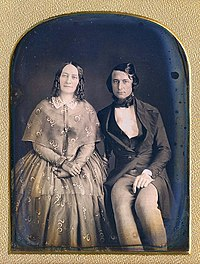 A daguerreotype of a Victorian couple, 1840s or 1850s