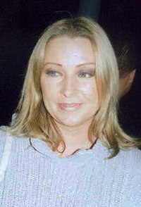 Linn of Ace of Base after a performance in 2002