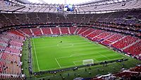 The Interior of the National Stadium before the UEFA Euro 2012 semi-final match between Germany and Italy on 28 June 2012