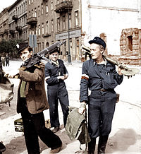 The Warsaw uprising took place in 1944. The Polish Home Army attempted to liberate Warsaw from the Germans before the arrival of the Red Army.