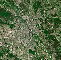 Warsaw, as seen from the ESA Sentinel-2