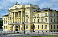 Mostowski Palace, the seat of Warsaw's police headquarters