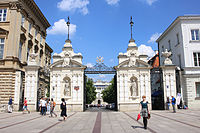 The main gate of the University of Warsaw