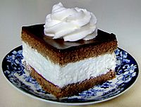 Wuzetka chocolate cake originated in Warsaw and is an icon of the city