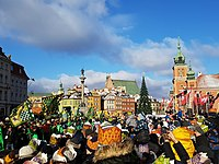 Annual procession of the Three Wise Men (Epiphany) at Warsaw's Castle Square