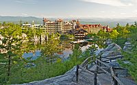 The Mohonk Mountain House, Ulster County, New York, in the Hudson Valley, was designated a National Historic Landmark in 1986.