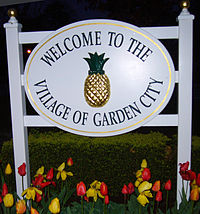 The Village of Garden City in Nassau County, Long Island's Town of Hempstead, which with over 770,000 people is the New York metropolitan area's most populous individual municipality outside New York City.