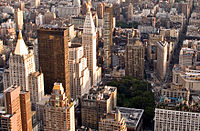 Manhattan's Flatiron District was the cradle of Silicon Alley, now metonymous for the New York metropolitan region's high tech sector, which has since expanded beyond the area.