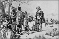 Peter Minuit is credited with the purchase of the island of Manhattan in 1626.