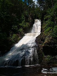Dingmans Falls in the Delaware Water Gap National Recreation Area, Pike County, northeastern Pennsylvania