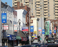 India Square, Jersey City, New Jersey, known as Little Bombay, home to the highest concentration of Asian Indians in the Western Hemisphere.
